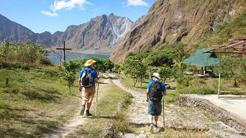 Mt Pinatubo heading toward the crater rim with the crater lake ahead