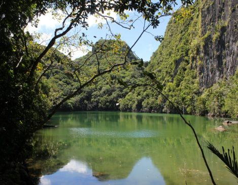 Caramoan Tayak lagoon, situated just behind Tayak Beach