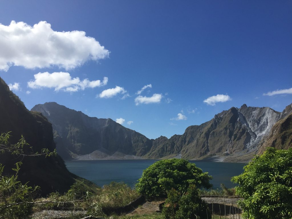 The crater lake at Mt. Pinatubo