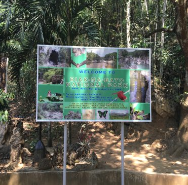 Welcome sign at the entrance of Biak Na Bato