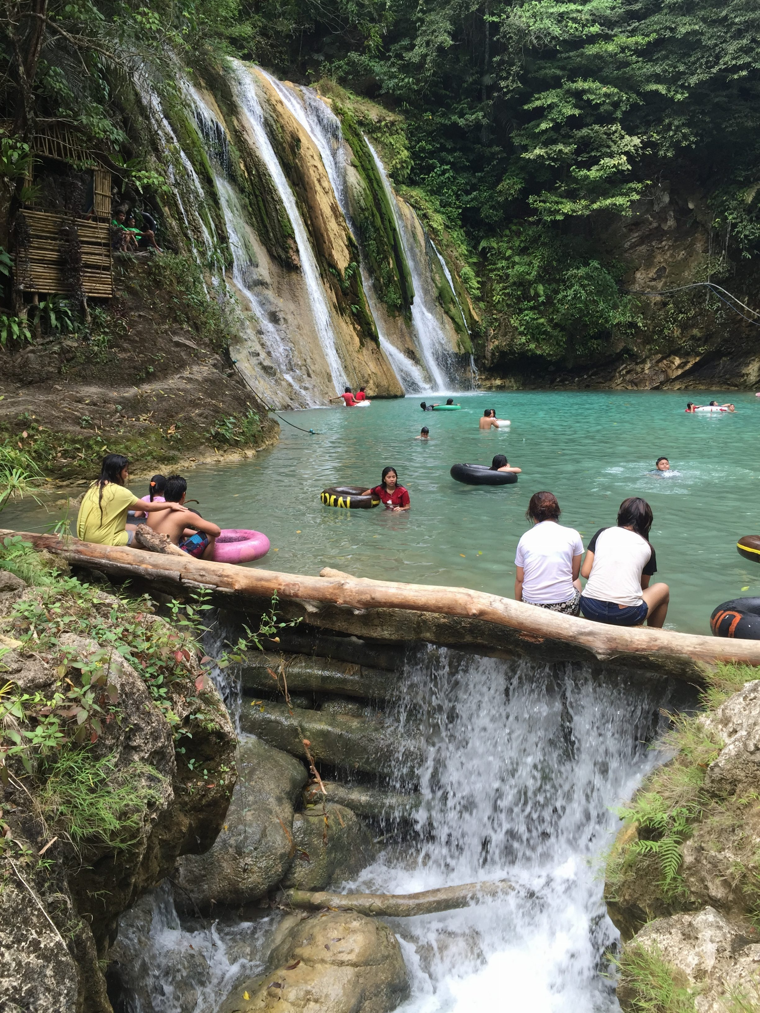 The water from Daranak Falls flows further downstream across a few different levels.
