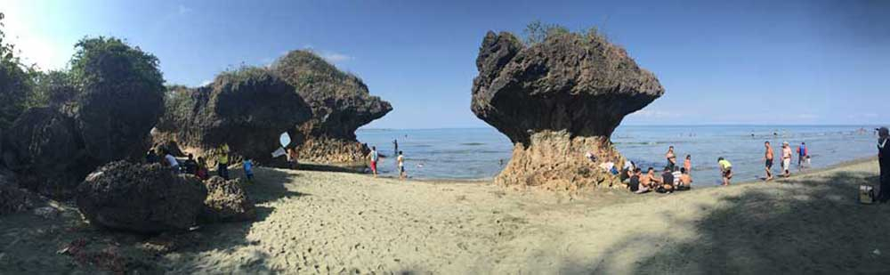umbrella rocks agno pangasinan philippines