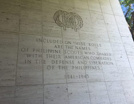 A tribute to the Philippine soldiers Manila American Cemetery