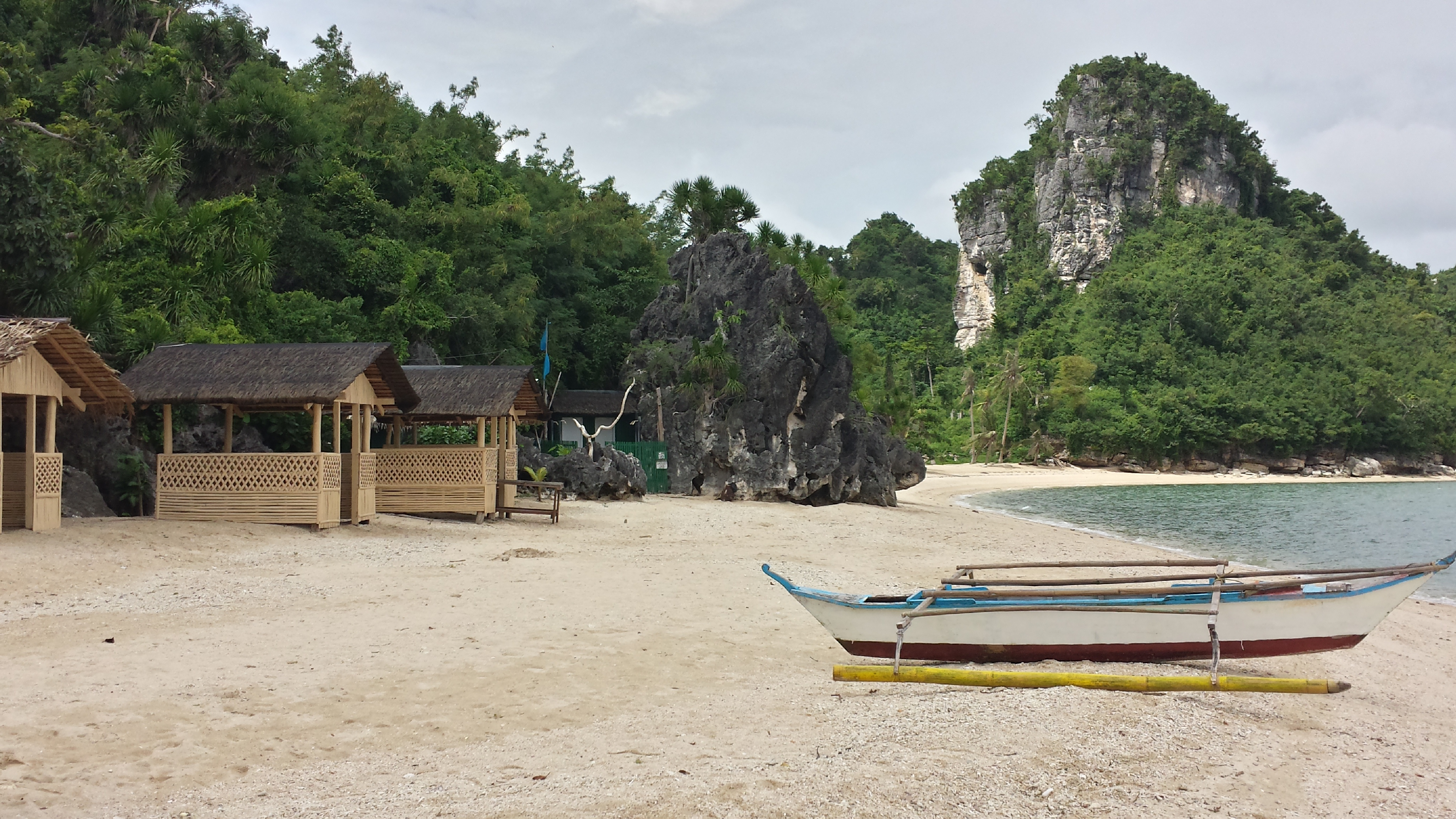 Borawan view on the more secluded east side of the beach