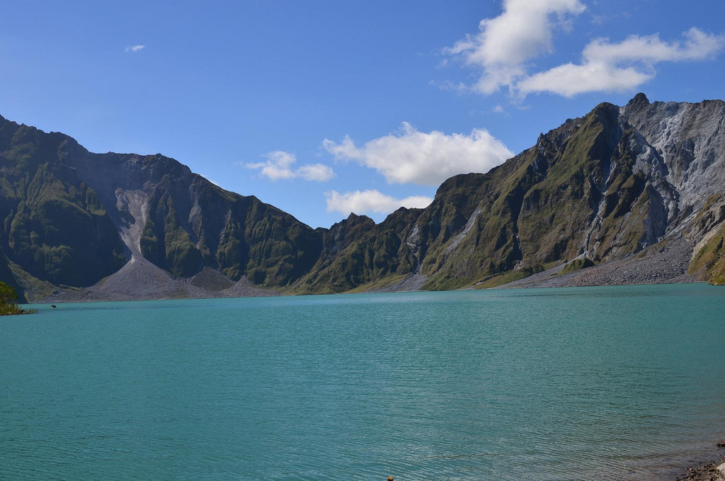 Mt. Pinatubo lurking quietly in the background of Clark