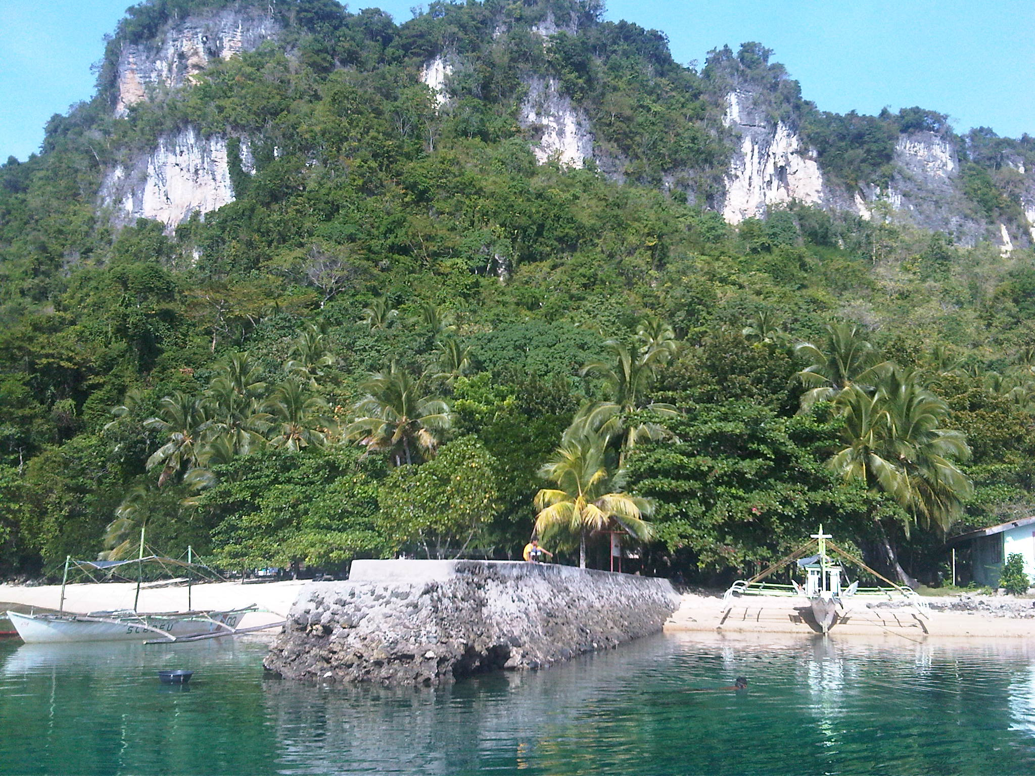 Campomanes Bay Sipalay's Protected Marine Sanctuary limestone cliffs