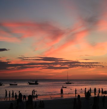 boracay island philippines sunset near boracay beach club