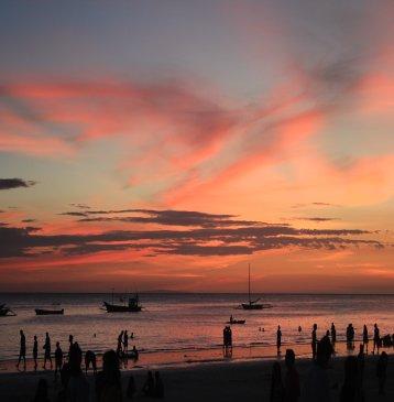 boracay island philippines sunset near boracay beach club