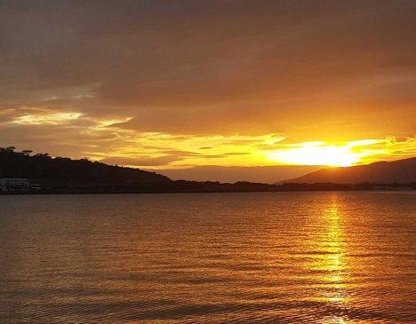 subic bay sunset at Vasco's Resort and Musuem.