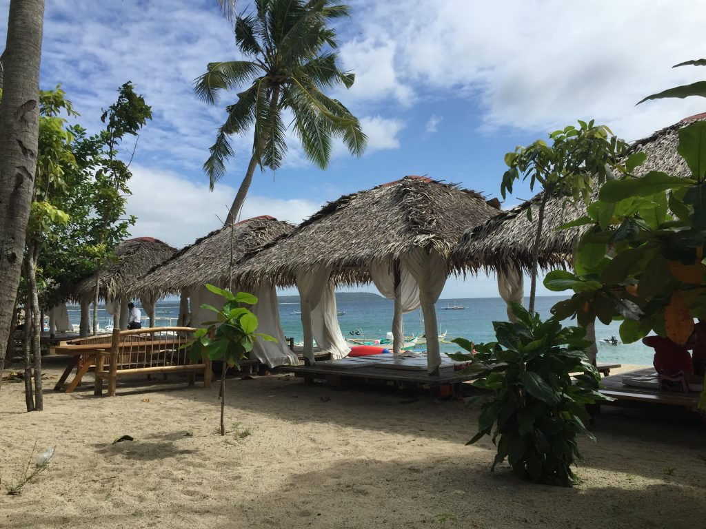 Southern Luzon, Laiya is blessed with a 20 kilometre stretch of white sand
