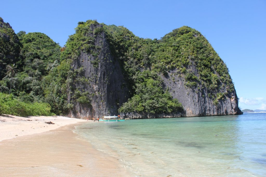 Deserted white sand beaches in Caramoan Southern luzon