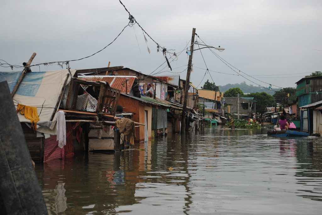 Natural disasters in the Philippines flooded streets