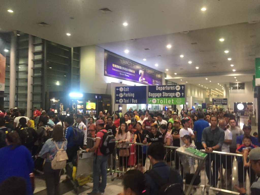 Philippines transport and NAIA 3 arrivals area
