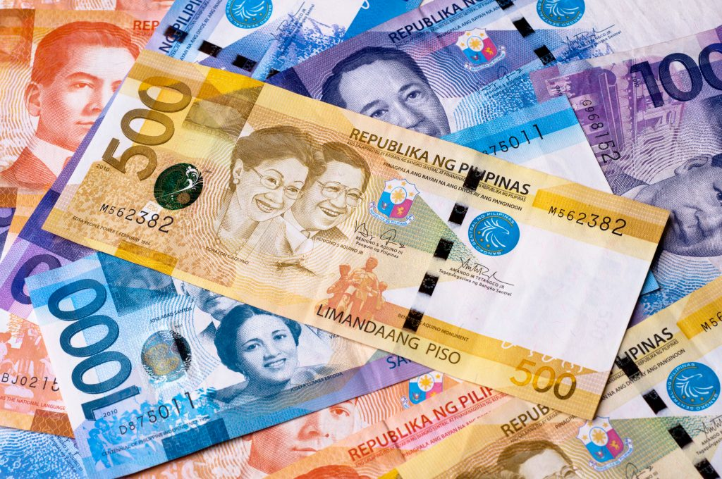 Cash in Philippines peso notes