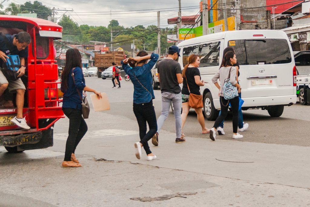 Personal safety in the Philippines crossing the road