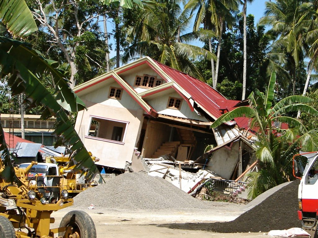 Natural disaster in Philippines earthquake in Tubigon, Bohol
