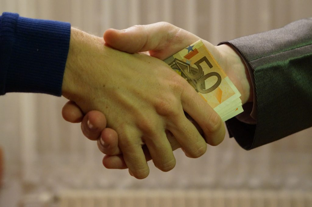 Corruption in the Philippines money changing hands