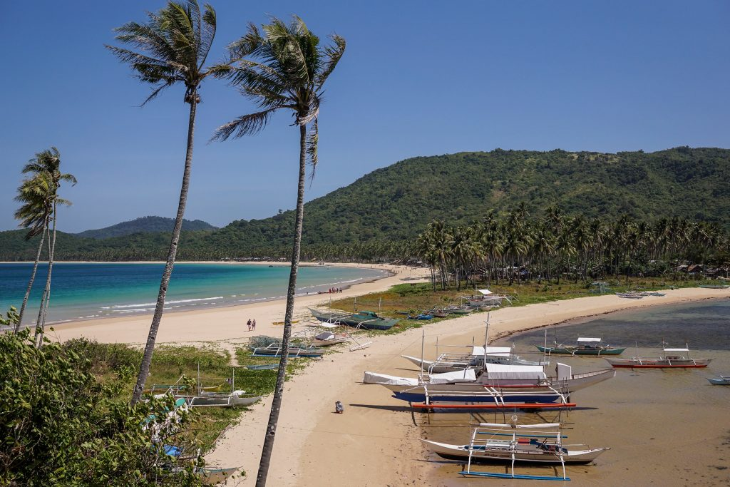Nacpan Beach and Calitang Beach twin beach